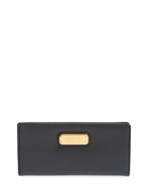 Marc By Marc Jacobs   Black 'new Q Tomoko' Leather Continental Wallet   Lyst