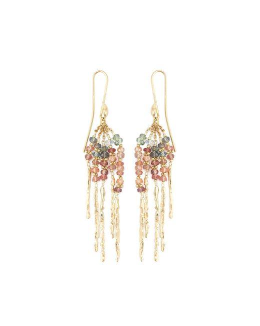 Natasha Collis | Metallic 'rod' Sapphire Earrings | Lyst