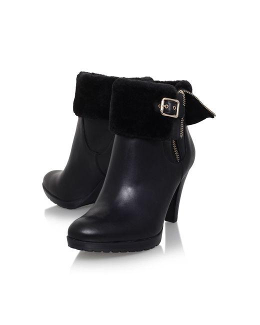 klein delray high heel knee boots in black lyst