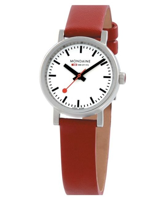 Mondaine | Red '(evo)lution' Leather Strap Watch | Lyst