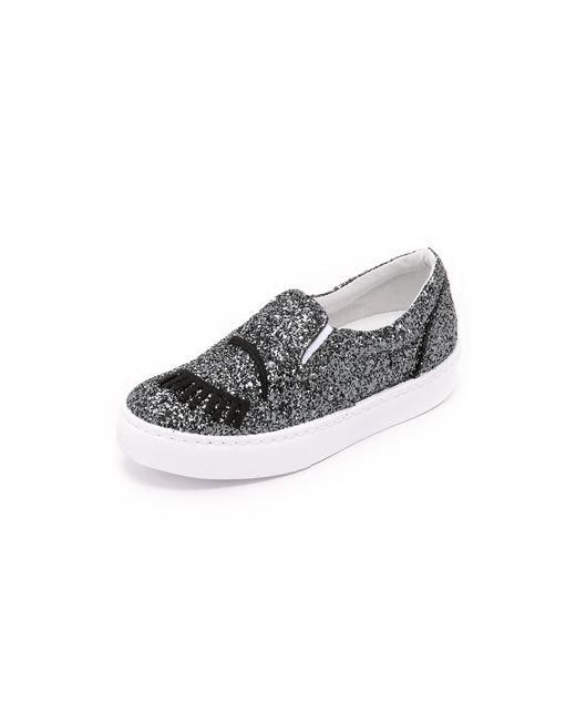 Chiara Ferragni | Pink Cf577 Wink Eye Sneaker Silver Glitter | Lyst