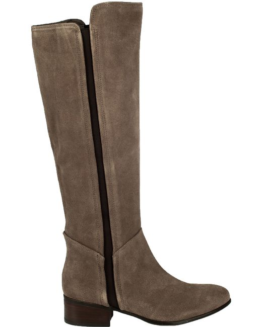 steve madden pullon suede boots in brown taupe suede