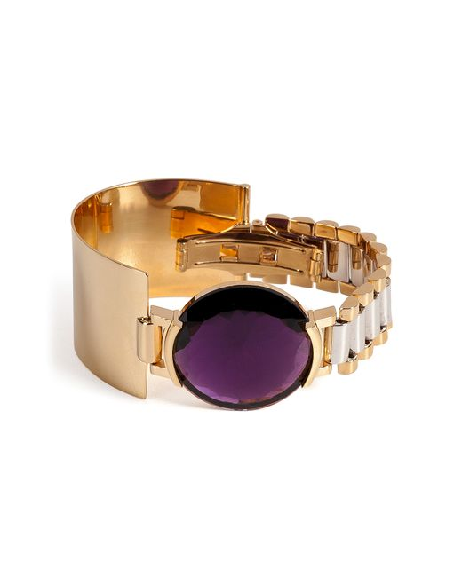Delfina Delettrez | Watch Bangle With Purple Quartz | Lyst