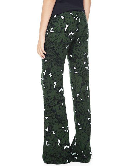 Ella Moss | Green Jungle Floral Flare Pant | Lyst