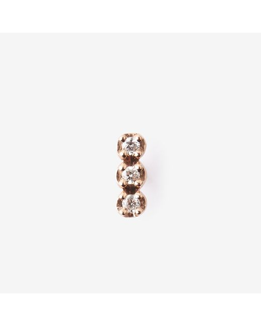 Ginette NY   Pink Solo Diamond Strip Stud   Lyst