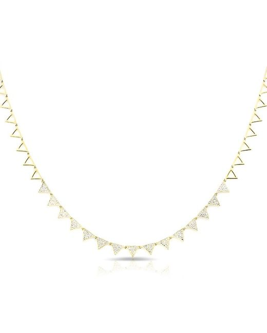Anne Sisteron | Metallic 14kt Yellow Gold Diamond Triangle Link Necklace | Lyst