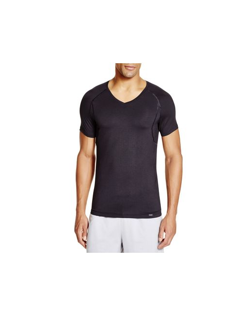 Hanro | Black Modal Stretch V-neck Tee for Men | Lyst