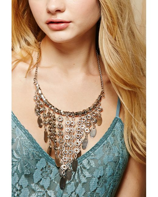 Forever 21 | Metallic From St. Xavier Nancy Necklace | Lyst