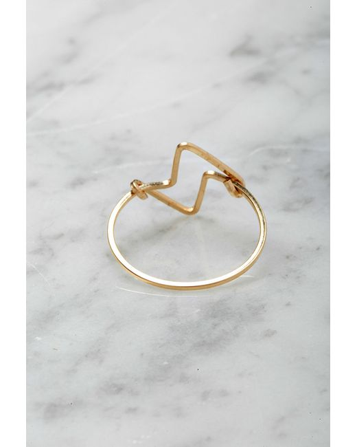 Forever 21 | Metallic By Boe Double Triangular Ring | Lyst