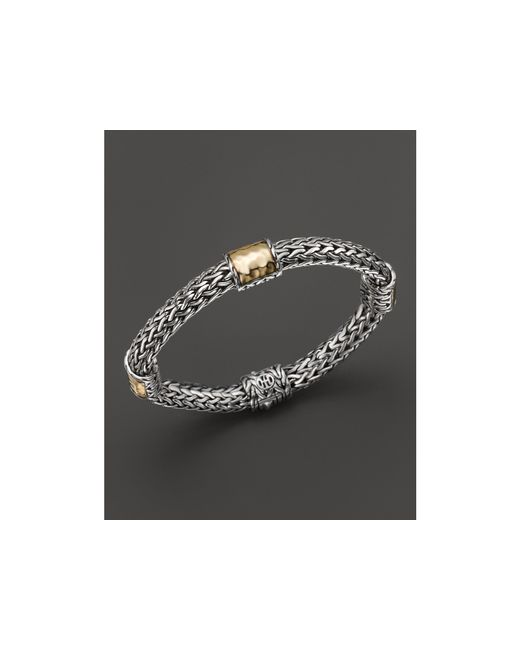 John Hardy | Metallic Sterling Silver And 18k Bonded Gold Palu Four Station Bracelet | Lyst