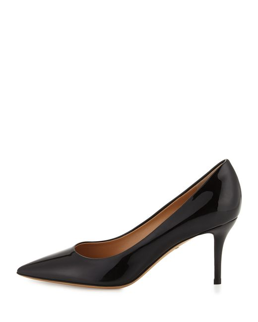 Ferragamo Susi Pointed-toe Patent-leather Pump in Black (NERO) - Lyst