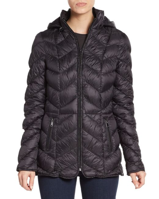 Saks Fifth Avenue | Black Quilted Down Puffer Jacket | Lyst