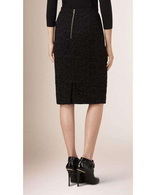 burberry stretch wool tailored pencil skirt in