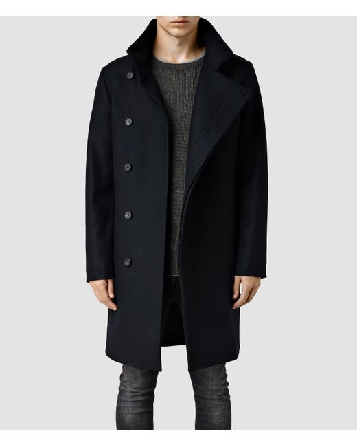 AllSaints | Blue Banner Coat for Men | Lyst