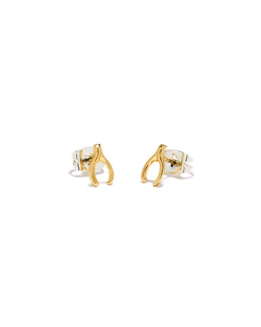 Bing Bang | Yellow Wishbone Studs | Lyst