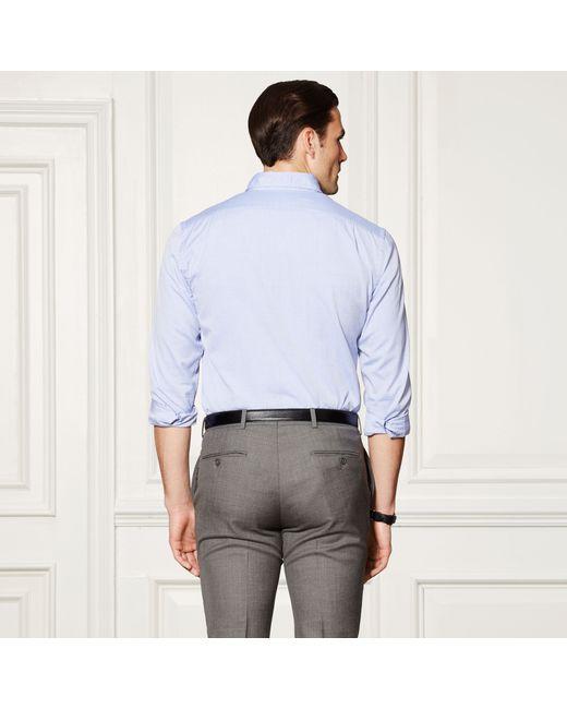 Ralph Lauren Purple Label   Blue Cotton Oxford Shirt for Men   Lyst