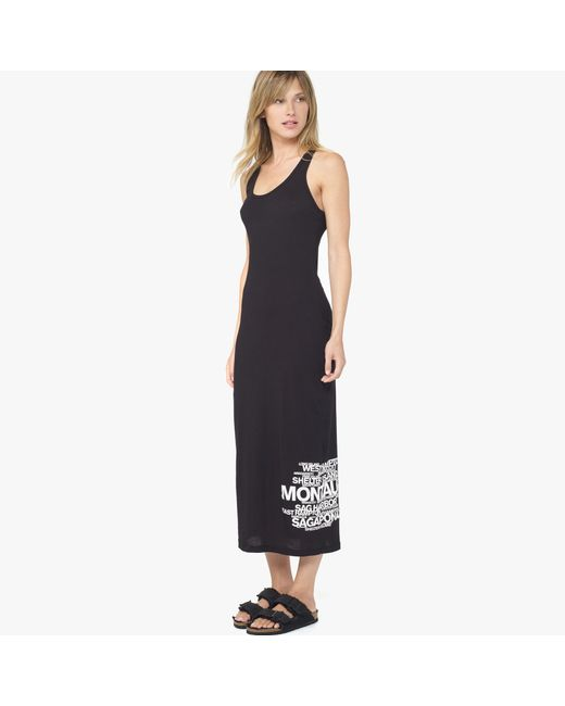 James Perse | Black Long Island Beaches Graphic Dress | Lyst