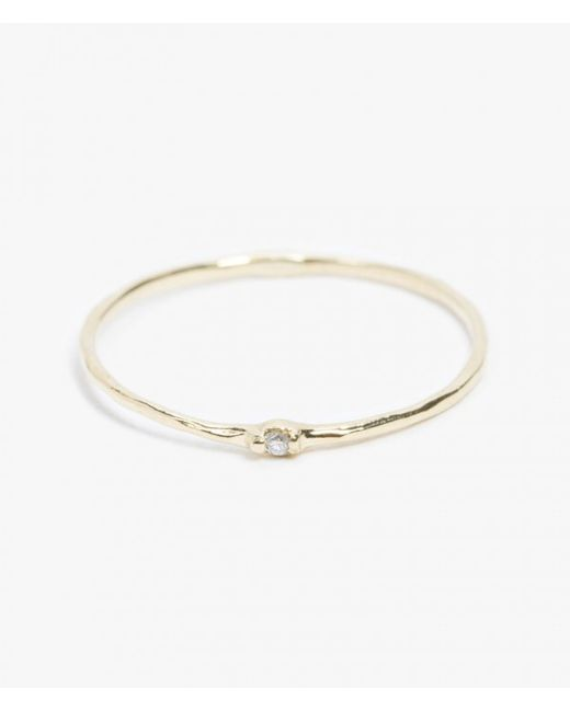 Grace Lee | Metallic Diamond Whisper Ring | Lyst