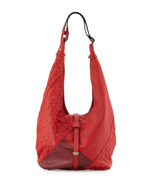 d29bd3a35f Halston heritage Colorblock Hobo Bag in Red (CHILI) - Save .