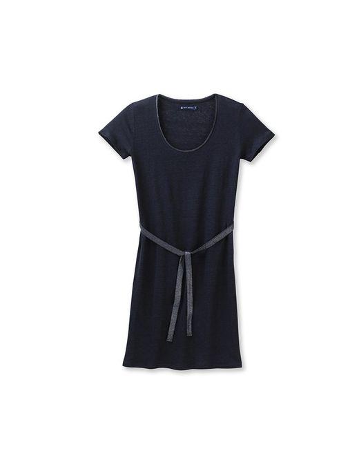 Petit Bateau | Black Women's Lacquered Linen Dress | Lyst