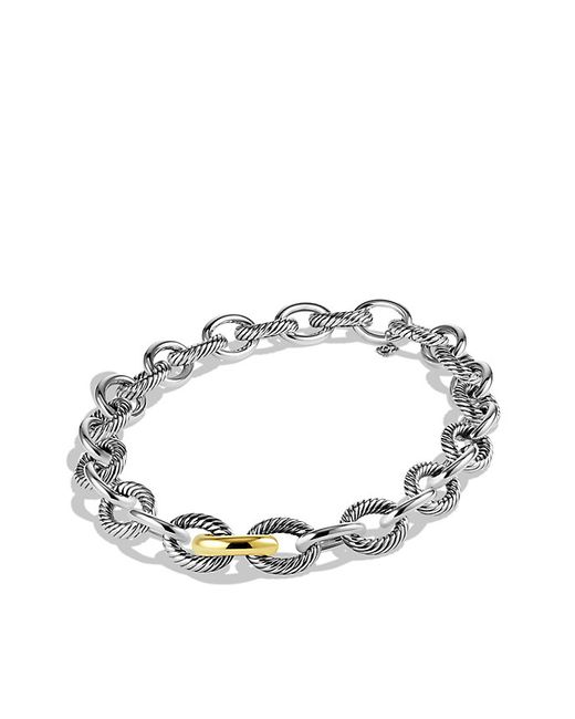 David Yurman | Metallic Extra-large Oval Link Necklace With 18k Gold | Lyst