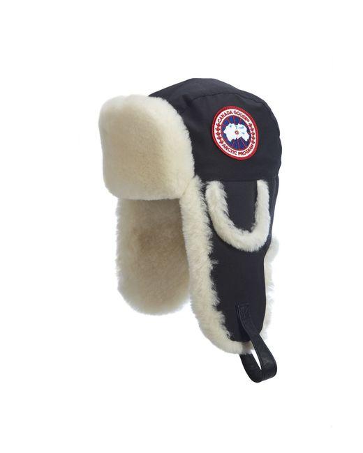Canada Goose | Gray Shearling Fur Pilot Hat for Men | Lyst