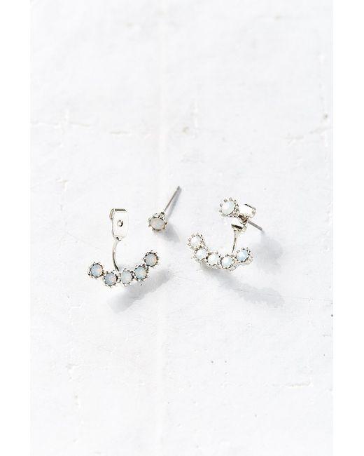 Urban Outfitters   Metallic Vanity Ear Hugger Front/back Earring   Lyst