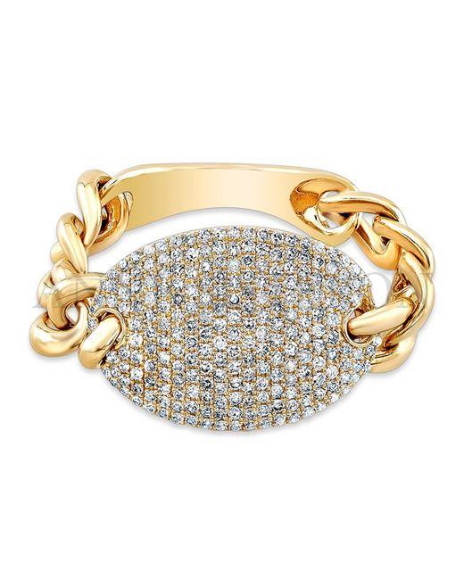 Anne Sisteron   Metallic 14kt Yellow Gold Diamond Bean Ring   Lyst