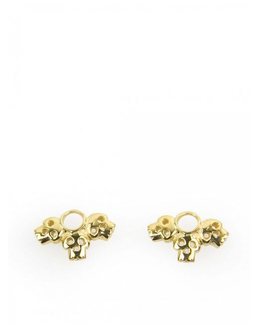 Daisy Knights | Metallic Gold Tri-skull Shoe Lace Embellishment | Lyst