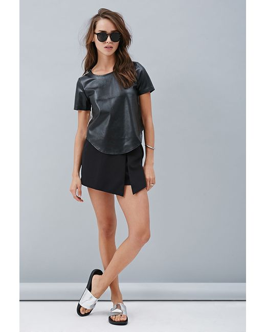 Forever 21   Black Private Archives Perforated Metallic-back Top   Lyst