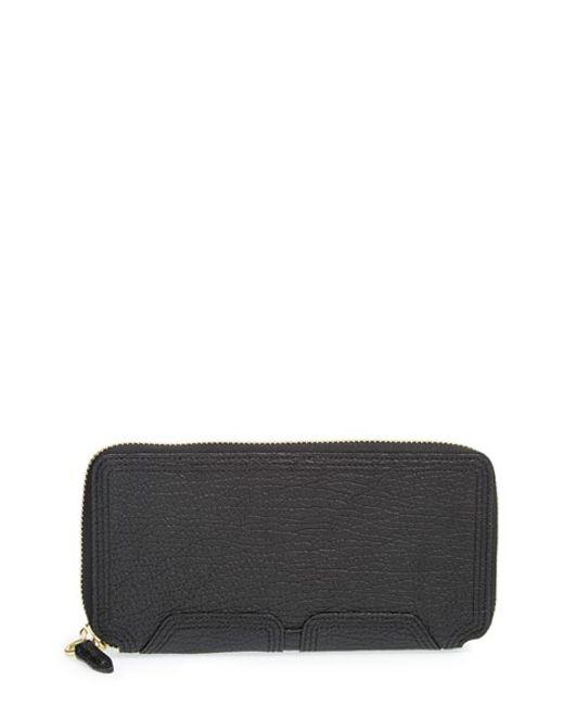 3.1 Phillip Lim | Black 'pashli' Leather Zip Around Wallet | Lyst