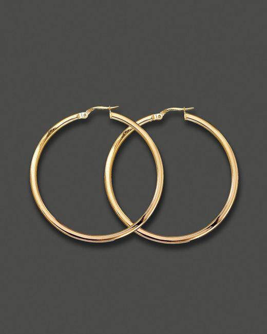 Roberto Coin | Metallic Medium 18k Yellow Gold Hoop Earrings | Lyst