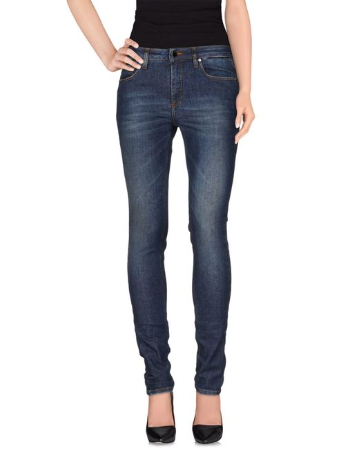 Victoria Beckham | Blue Denim Pants | Lyst