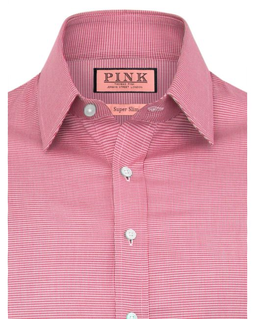 Thomas Pink   Pink Plato Single-cuff Gingham Shirt - For Men for Men   Lyst