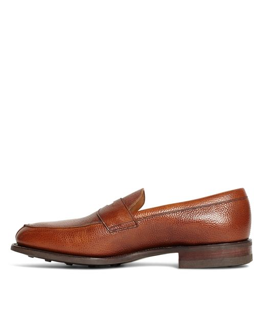 Brooks Brothers | Brown Peal & Co.® Cognac Pebble Loafers for Men | Lyst