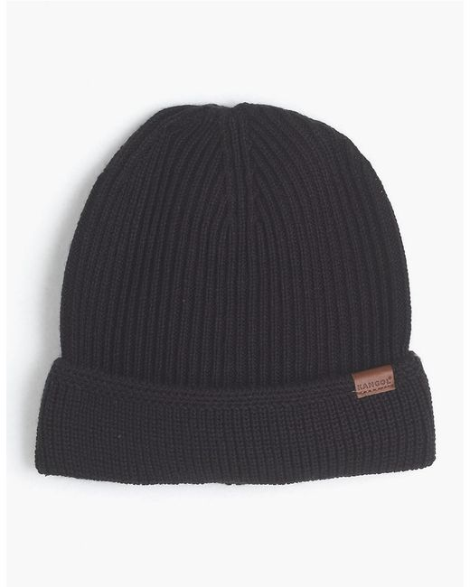 Kangol | Black Knit Cuffed Beanie Cap for Men | Lyst