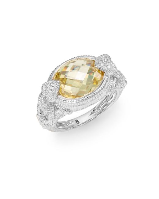 Judith Ripka   Metallic Lola Oval Sterling Silver Ring   Lyst