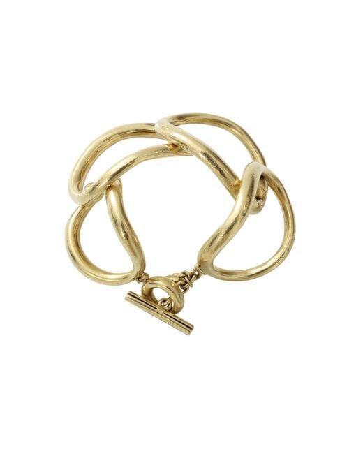 Vaubel | Metallic Overlap Oval Ring Bracelet | Lyst