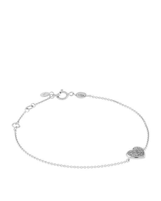 Links of London | Metallic Diamond Essentials Pavã© Heart Bracelet | Lyst