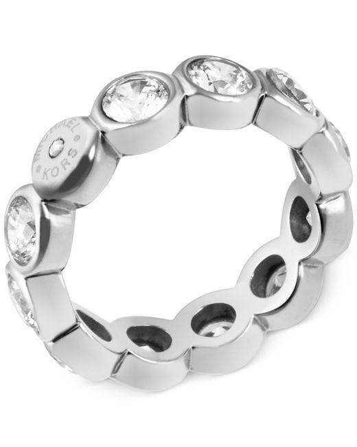 Michael Kors | Metallic Gold-tone Crystal Bezel Band Ring | Lyst
