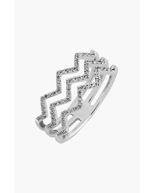 Bony Levy   Metallic 'prism' 3-row Diamond Ring (limited Edition) (nordstrom Exclusive)   Lyst