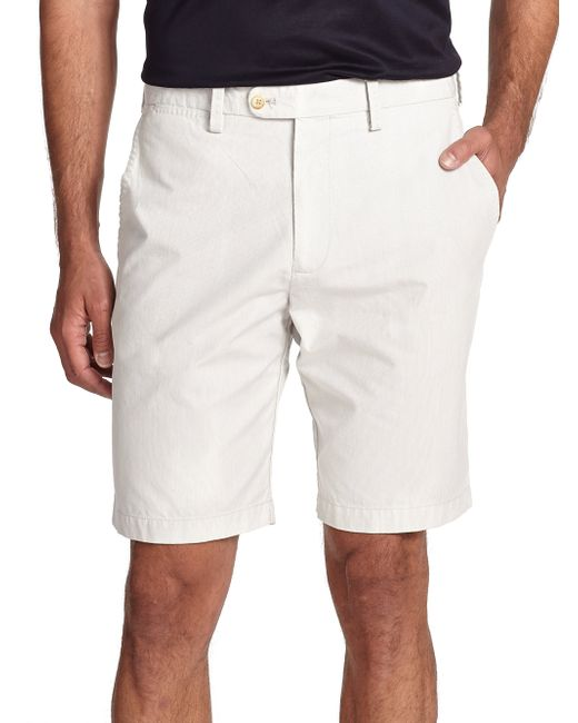 Saks Fifth Avenue | Natural Pincord Bermuda Shorts for Men | Lyst
