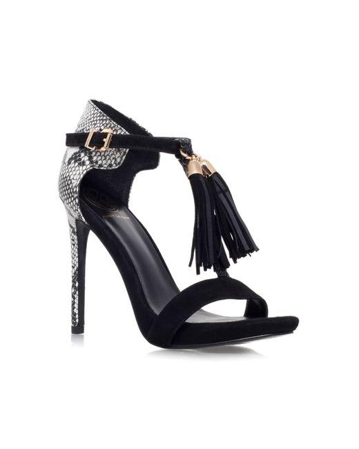 KG by Kurt Geiger   Black Hiss High Heel Embellished Sandals   Lyst