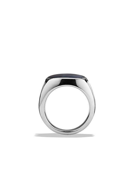 David Yurman   Metallic Knife-edge Signet Ring With Pietersite for Men   Lyst