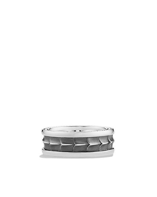David Yurman | Metallic Armory Narrow Band Ring With Diamonds for Men | Lyst