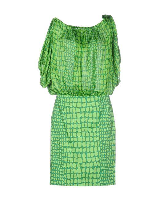 Boutique Moschino | Green Short Dress | Lyst