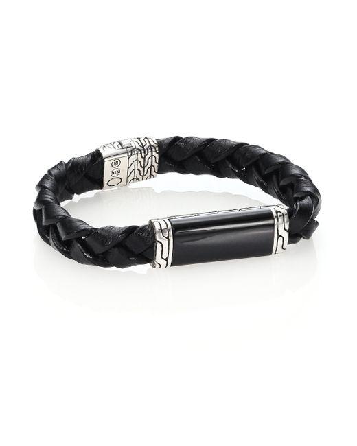 John Hardy | Black Batu Woven Leather Bracelet for Men | Lyst