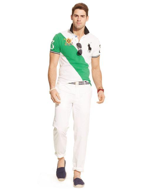 ... Polo Ralph Lauren | Green Black Watch Custom-Fit Banner-Stripe Polo for Men ...