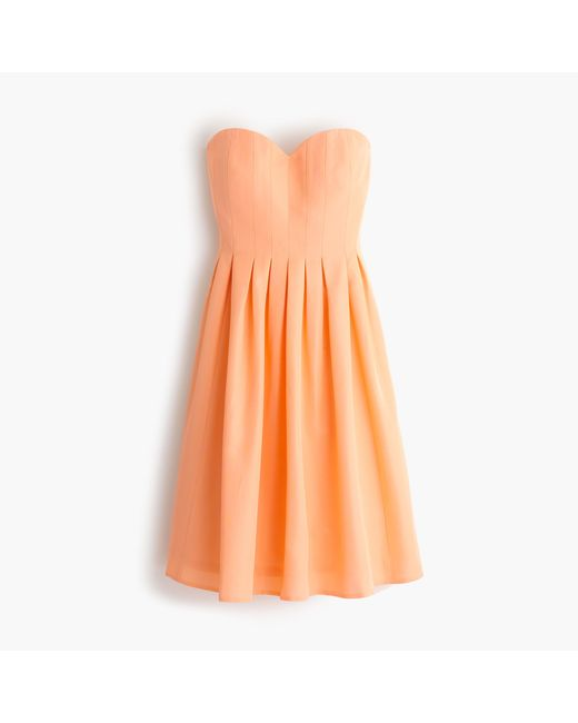 J.Crew | Orange Marlie Dress In Classic Faille | Lyst