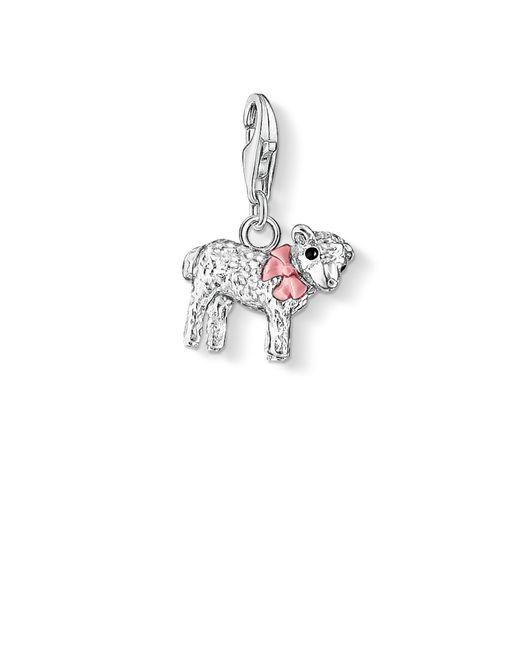 Thomas Sabo | Pink Charm Club Lamb Pendant | Lyst